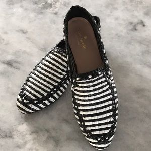 Kate spade Black/White Cayley Moccasins/Loafers 6